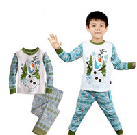 on and off - 18 OFF on sale Frozen children kids clothing boys frozen olaf long sleeved cotton winter and autumn pajamas PCSTshirt PCSpants DL