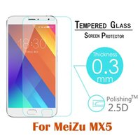 amazing protective covers - Free DHL Amazing Best Quality Tempered Glass Screen Protector Anti Explosion D mm for Meizu MX5 Cover Guard protective film