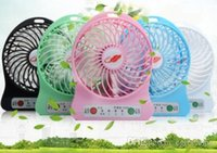 Wholesale New Portable Mini Fan USB Rechargeable Pocket Stand Fan Handheld Air Conditioner Cooling Fan