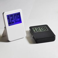 Wholesale Fine Table Clock Excellent LCD Alarm Clock Multifunctional Digital Clock with Temperature Date Time Display Good h h Display