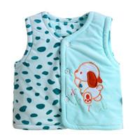 Wholesale Fleece Autumn newborn sleeveless baby warm vest for baby boys infant girls Winter outwear coat mehovaya vest clothing babies