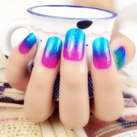 Wholesale New Arrival Colour Gradient Nail Foils Shiny Nail Beauty Stickers
