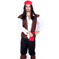 adult pirate halloween costumes - New Pirates Of The Caribbean For Adult Cosplay Party Halloween Costumes Set Hot Free Sizethe Pirate Captain Jack Sparrow Costume
