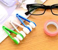Wholesale 2016 new New Arrive Mini Sun Glasses Eyeglass Microfiber Brush Cleaner Home Office Easy