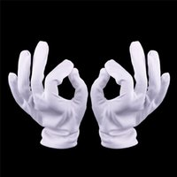 Wholesale 1 Pair White Cotton Knitted Factory Industry Protective Work Gloves New Useful