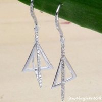 14k findings - Solid k White Gold Real Diamond Engagement Wedding Find Party Jewelry Earrings