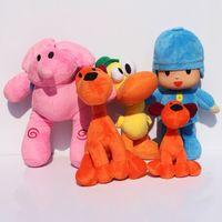 bandai games - BANDAI Plush Pocoyo Plush Doll Large Doll Lovely Pato Elly Loula Cartoon Figure Toys plush doll