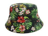 Wholesale 2014 new floral flower bucket hats and caps for men women girls sport hip hop cotton mens womens outdoor fishing hat top quality