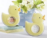 baby shower ducks - Baby Shower Favor Party Door Gifts quot My Little Duckling quot Baby Duck Photo Frame Place Card Holder
