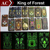 animals hard case - The King of The Forest Lumisnous Case For iPhone S S Plus Galaxy S5 S6 Note Animal Fashion Cover PC Hard Back Skin Shell