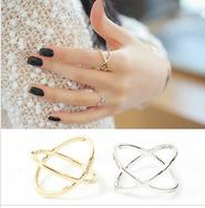 band jumpers - R159 Ring female x three dimensional surround cutout cross joint jumper rings for women