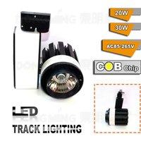 Wholesale Low price W supermarket led spot track lighting pendant track light lm AC85 V COB wall track lights
