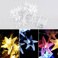 beach string party lights - M LED Starfish Shaped Garden Xmas Christmas Beach Party Wedding Decor Fairy Decoration String Light