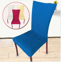 bar dining chairs - Home Decoration Dining room Chair Back Cover Hotel Chair Cover Banquet office restaurant Elastic cloth cover suit wedding bar