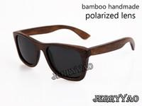 al por mayor gafas de sol polarizadas de alta gama-Gafas de sol de bambú de gama alta gafas de sol de bambú de bambú de 2015fashion gafas de sol de bambú del marco del nuevo diseño popular gafas de sol polarizadas UV400 Protec