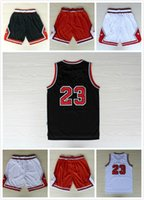 Wholesale 23 basketball Jersey Basketball shorts REV Free fast Shipping Size S XXL Allow Mix Order