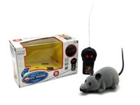 Wholesale Gray Cute Electronic Plush Mouse Toy RC Simulation Electronic Mouse with Remote Controller RC Mouse