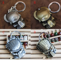 Wholesale hot sale styles Predator Alien Mask Metal Keychain Pendant Key Chain Key Ring
