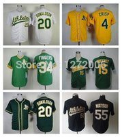 army athletic shorts - 2016 New Oakland Athletics Coco Crisp Ryan Sweeney Rollie Fingers Josh Donaldson Hideki Matsui Baseball Jersey Shirt