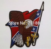 american car flag lot - American Flag eagle iron on patches Motorcycle car fans patch articles badges accessory Embroidered