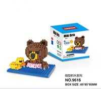 build a bear - 30pcs New pieces a styles selectable Brown Bear loz diamond nano plastic cube building blocks education toy for kids LY