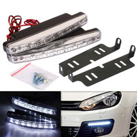 Wholesale Newest Car Daytime Running Lights LED DRL Daylight Kit parking light V DC Head Lamp PY car styling