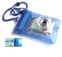 Wholesale Digital Camera Waterproof Bags Video Waterproof Cases Underwater Diving Floating Pouch for Camera Freeshipping