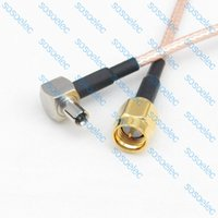 Wholesale TS9 male right angle to SMA male plug with RG316 RG RF Coaxial Jumper Pigtail LOW LOSS cable cm quot for wifi antenna inch