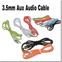 audio plug types - Colorful Metre feet MM Male to Male Crystal Rope Type Car Aux audio Cable Extended Audio Headphone stereo jack plug cable