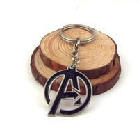 Alloy avengers movie villain - The Avengers Age of Ultron Villain Logo D Silver plated Metal Key chain ring New