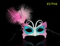 Wholesale 2015 Sexy Masquerade masks Adult children Butterfly masks Feather Venetian Dance Party Masks colors painting Halloween costumes