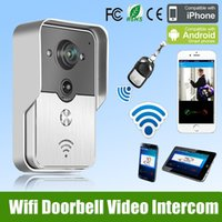 Wholesale 2015 Hot New Wifi Doorbell Camera Wireless Video Intercom Phone Control IP Door Phone Wireless Door bell for Safety Protection