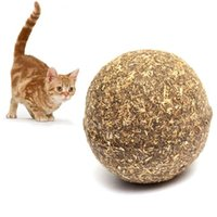 Wholesale Edible Catnip Cat Treat Ball Healthy Funny Chasing Tasty Safe Treating Toys Pet Favor Ball
