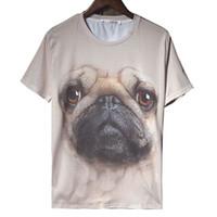 Compra Tipos de pantalones cortos para las mujeres-W1213 Mujeres Hombres 3D T-shirt Camisetas de las mujeres Tops Estilo del verano Vestido informal Bull Tipo de perro Manga corta más tamaño Roupus Mujeres Ropa