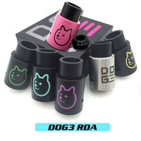 bear control - Vaporizer DOG3 RDA Atomizers Clone Doge v3 Vapor Rebuildable Airflow Control mm Post Holes With Wide Bore Drip Tips Fit Box Mods DHL Free