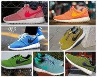 Nuevo Color 2015 Roshe Run zapato Los hombres y las mujeres los zapatos corrientes de la moda Vintage atléticos Deportes Casual Zapatos Rosa Naranja Azul Verde de malla 44