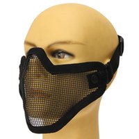 Wholesale Tactical Face for Protection Safety Gear Mask Half Face Mesh Guard for Paintball Airsoft Game fit all Size order lt no track