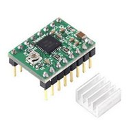 Wholesale A4988 StepStick Stepper Motor Driver Module for D Printer Reprap Heat Sink Motor Accessories