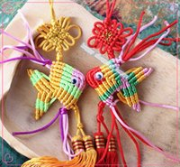 bedroom decorating crafts - 5pcs for home decoration and gifts Chinese knot handmade cord pendant small sachet goldfish crafts ornaments decorate p