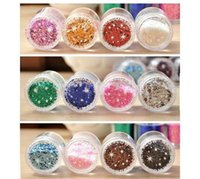Wholesale 1 piece Manicure JEWELRY mm diameter six angle sequins gradient Manicure special sequins g nail tools nail sticker M518