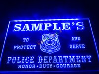 beer names - DZ071 b Name Personalized Custom Police Station Badge Bar Beer Neon Sign JPG