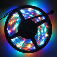addressable tv - best price DC5V M WS2801 leds m RGB Addressable Full Color LED Strip Arduino development ambilight TV for Party Decoration