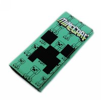 Wholesale Minecraft Wallet Creeper Casaul Canvas Long Wallets Unisex Kids Birthday Gift TT37566896189 HX