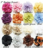 rustic decor - Handmade quot Burlap Flower Burlap Rose Flower Rustic Wedding Decor Linen Hair Flower For Baby Headbands Hair Accessories B3742