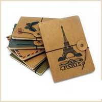 spiral notebook - 64 Pages Kraft Paper Notebook Styles Mix Color Matching Notepad with Spiral Winding