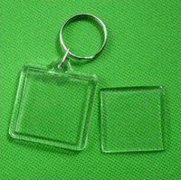 acrylic blanks - 2500pcs Blank Transparent Clear Acrylic Insert Photo Picture Frame Key Ring Chain Keychain Rectangle Round Heart Free DHL Fedex