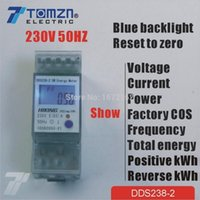 Wholesale 5 A V HZ display voltage current Positive reverse power reset to zero Single phase Din rail KWH Watt hour energy meter