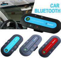 Wholesale English Spanish Vehicle Wireless Multipoint Wireless Handsfree Speakerphone Cell Phone Bluetooth Hands Free v3 Car Kit Black Blue