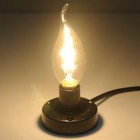 antique tail lights - Hot Sale W E14 Lm K Antique Tungsten Filament Candle Light Decorative Retro Edison Pull Tailed Bulb Warm White
