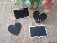 Wholesale Double Sided Mini Chalkboard for Wedding Party Favors small Blackboard With rope Label Tags Gift Tags Tags